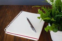 Σημειωματάριο και μολύβι Στοκ Εικόνα