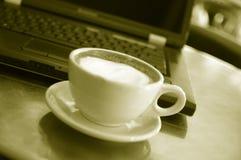 σημειωματάριο καφέ στοκ εικόνες