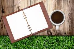 σημειωματάριο καφέ Στοκ φωτογραφία με δικαίωμα ελεύθερης χρήσης