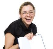 σημειωματάριο κοριτσιών Στοκ φωτογραφία με δικαίωμα ελεύθερης χρήσης