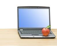 σημειωματάριο μήλων Στοκ Εικόνες