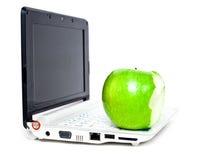 σημειωματάριο μήλων Στοκ φωτογραφίες με δικαίωμα ελεύθερης χρήσης