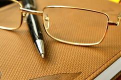 Σημειωματάριο μανδρών γυαλιών Στοκ Εικόνες