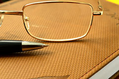 Σημειωματάριο μανδρών γυαλιών Στοκ φωτογραφία με δικαίωμα ελεύθερης χρήσης