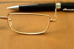 Σημειωματάριο μανδρών γυαλιών Στοκ εικόνες με δικαίωμα ελεύθερης χρήσης