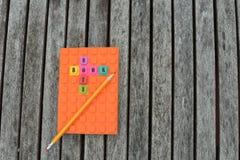 Σημειωματάριο με το μολύβι Στοκ Εικόνες