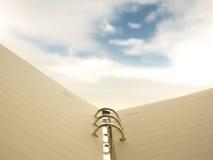 Σημειωματάριο με το υπόβαθρο ουρανού Στοκ Φωτογραφία