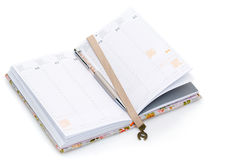 Σημειωματάριο που ανοίγουν στο νέο έτος Στοκ Εικόνες