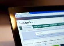 Σημειωματάριο, σελίδα Dreamstime που ανοίγουν Στοκ Εικόνα