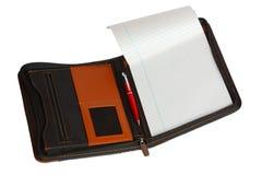 Σημειωματάριο σε περίπτωση που με μια μάνδρα Στοκ φωτογραφίες με δικαίωμα ελεύθερης χρήσης