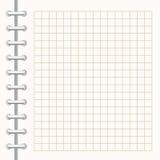 Σημειωματάριο στροφής Η σελίδα είναι σε ένα κλουβί Στοκ Φωτογραφίες