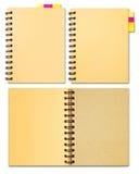 σημειωματάριο συλλογή&sigm Στοκ Εικόνες