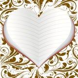 Σημειωματάριο υπό μορφή καρδιάς   Στοκ φωτογραφία με δικαίωμα ελεύθερης χρήσης