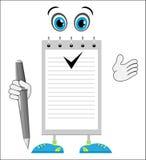 Σημειωματάριο χαρακτήρα κινουμένων σχεδίων Στοκ Φωτογραφίες