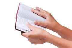 σημειωματάριο χεριών ανο&io Στοκ φωτογραφία με δικαίωμα ελεύθερης χρήσης