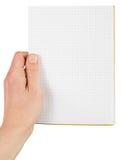σημειωματάριο χεριών Στοκ Εικόνες