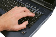σημειωματάριο χεριών Στοκ φωτογραφία με δικαίωμα ελεύθερης χρήσης