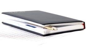 σημειωματάριο χρηματοδότ& Στοκ εικόνες με δικαίωμα ελεύθερης χρήσης