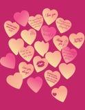 Σημειώσεις αγάπης Στοκ Εικόνες