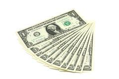 Σημειώσεις αμερικανικό δολάριο που αποσυντίθεται ένα όπως έναν ανεμιστήρα Στοκ εικόνες με δικαίωμα ελεύθερης χρήσης