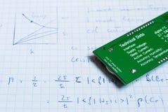 Σημειώσεις για τα ηλεκτρικά κυκλώματα Στοκ Φωτογραφία