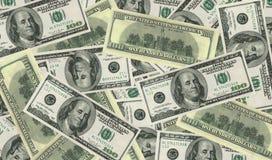 σημειώσεις δολαρίων τρα& Στοκ Εικόνα