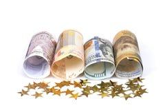 Σημειώσεις εγγράφου νομίσματος Στοκ φωτογραφίες με δικαίωμα ελεύθερης χρήσης