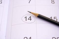 Σημειώσεις ημέρας του βαλεντίνου 14 Φεβρουαρίου. Στοκ Εικόνες