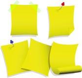 σημειώσεις κολλώδεις Στοκ φωτογραφία με δικαίωμα ελεύθερης χρήσης