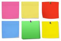 σημειώσεις κολλώδεις Στοκ φωτογραφίες με δικαίωμα ελεύθερης χρήσης
