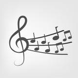 σημειώσεις μουσικής αν&alp Στοκ εικόνα με δικαίωμα ελεύθερης χρήσης