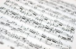 σημειώσεις μουσικής αν&alp στοκ εικόνα