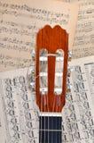 σημειώσεις μουσικής κιθάρων Στοκ Εικόνα