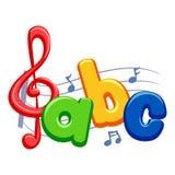 Σημειώσεις μουσικής με ABC Στοκ Φωτογραφία