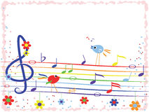 σημειώσεις μουσικής πλ&al Στοκ Εικόνα