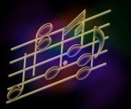 σημειώσεις μουσικής ράβδων Στοκ εικόνες με δικαίωμα ελεύθερης χρήσης
