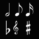 σημειώσεις μουσικής Στοκ εικόνες με δικαίωμα ελεύθερης χρήσης
