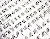 σημειώσεις μουσικής Στοκ εικόνα με δικαίωμα ελεύθερης χρήσης