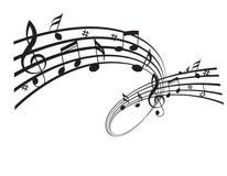 Σημειώσεις μουσικής Στοκ φωτογραφίες με δικαίωμα ελεύθερης χρήσης