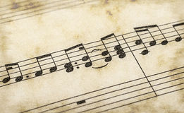 σημειώσεις μουσικής Στοκ Φωτογραφίες