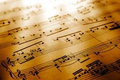 σημειώσεις μουσικής Στοκ Φωτογραφία