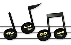 Σημειώσεις μουσικής Smiley Στοκ Φωτογραφία