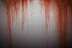 σημειώσεις σεληνόφωτου αποκριών ροπάλων ανασκόπησης Κηλίδα αίματος στο υπόβαθρο συμπαγών τοίχων Στοκ Φωτογραφίες