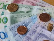 Σημειώσεις σουηδικών κορωνών, Σουηδία Στοκ φωτογραφία με δικαίωμα ελεύθερης χρήσης