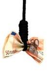 σημειώσεις τραπεζών gibbet Στοκ Φωτογραφία