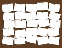 σημειώσεις χαρτονιών Στοκ Εικόνες