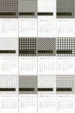Σημύδα και taupe χρωματισμένο γεωμετρικό ημερολόγιο 2016 σχεδίων Στοκ Εικόνες