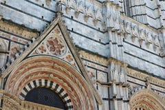 Σιένα, Τοσκάνη, Ιταλία, λεπτομέρεια καθεδρικών ναών Στοκ Φωτογραφίες