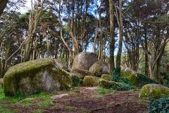 Σιαμέζοι βράχοι βουνών Sintra Στοκ εικόνες με δικαίωμα ελεύθερης χρήσης