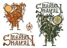 Σιβηρικός σαμάνος και ο σιβηρικός σαμάνος τίτλου Στοκ Φωτογραφία